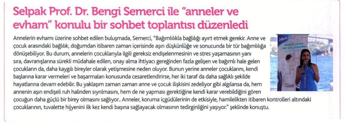 SELPAK PROF.DR.BENGİ SEMERCİ