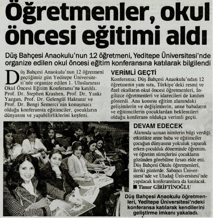 Öğretmenler okul öncesi eğitimi aldı - BİZİM KOCAELİ17.04.2014