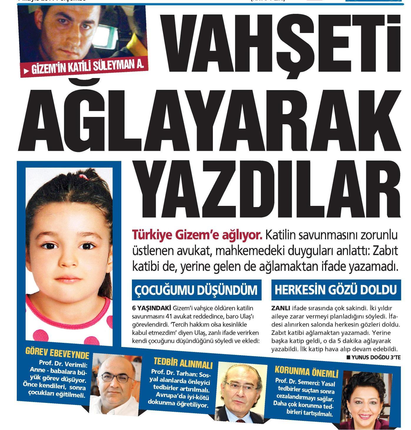 Vahşeti ağlayarak yazdılar - GÜNEŞ 01.05.2014
