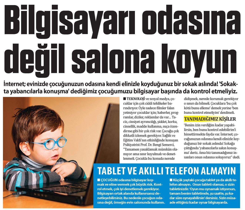 Bilgisayarı odasına değil salona koyun - GÜNEŞ 13.05.2015