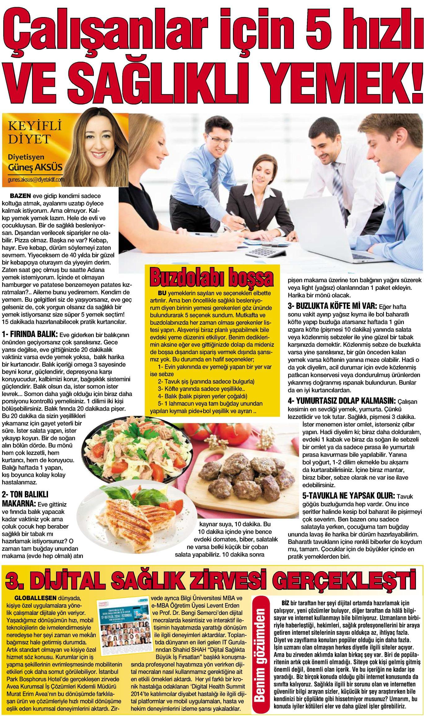 3. Dijital Sağlık Zirvesi gerçekleşti. - HABERTÜRK MAGAZİN 22.9.2014