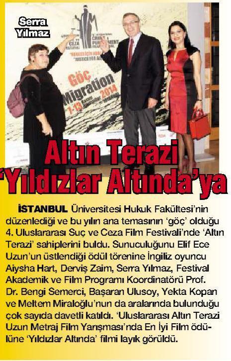 Altın Terazi 'Yıldızlar Altında'ya - HABERTÜRK MAGAZİN 13.11.2014