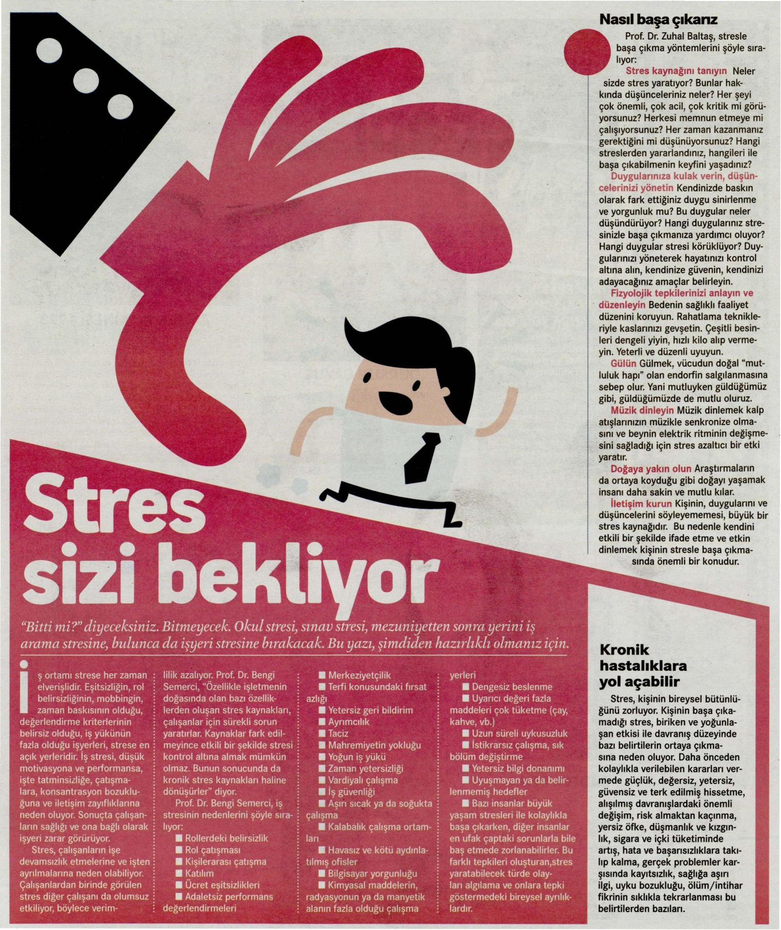 Stres sizi bekliyor - HÜRRİYET KAMPÜS14.03.2014