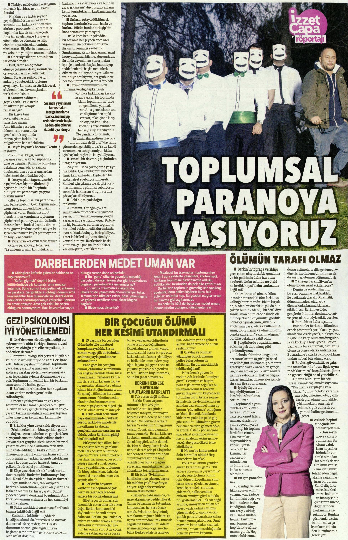 Toplumsal paranoya yaşıyoruz - Hürriyet Kelebek 16.03.2014