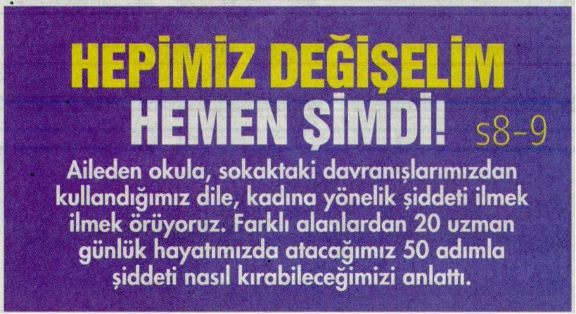 HEPİMİZ DEĞİŞELİM HEMEN ŞİMDİ - HÜRRİYET PAZAR 22.02.2015 </p> <p>