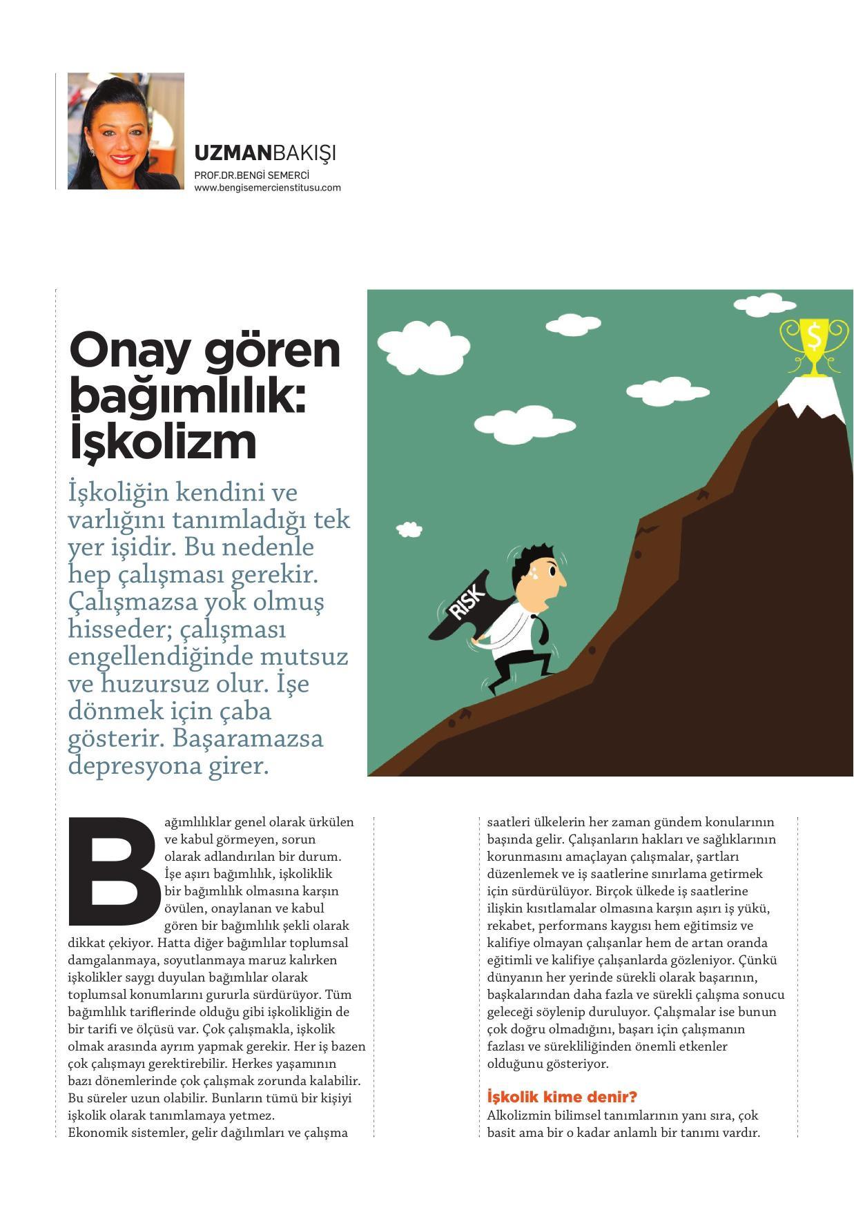 Onay gören bağımlılık: İşkolizm - KARİYER 01.06.2015