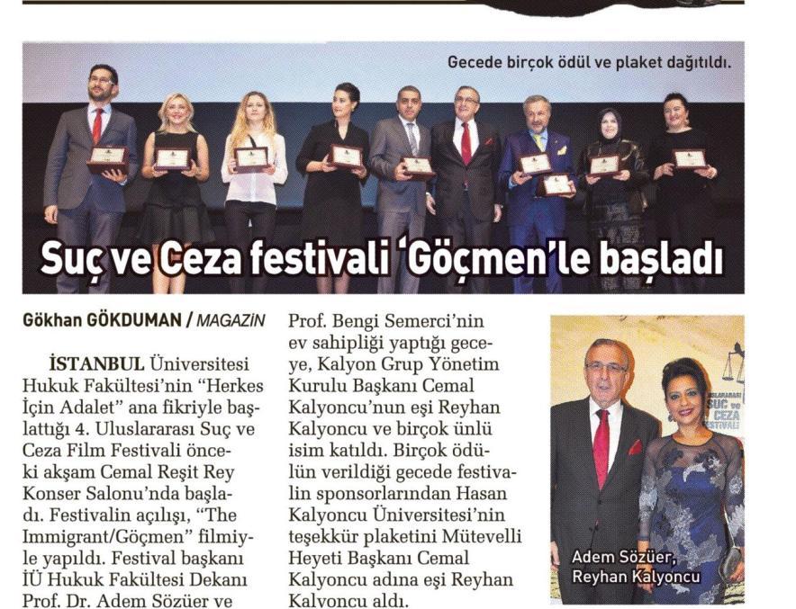 Suç ve Ceza Film Festivali Göçmen'le başladı - SABAH 08.11.2014