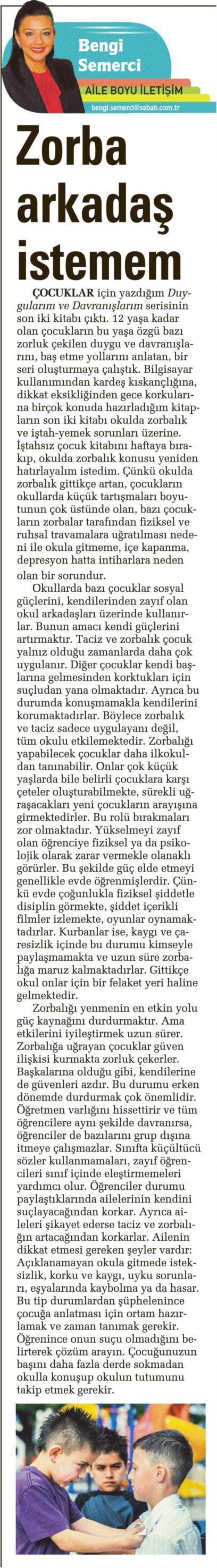 Zorba arkadaş istemem - SABAH CUMARTESİ 21.03.2015 </p> <p>
