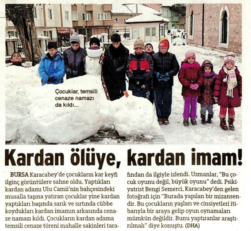 Kardan ölüye, kardan imam - SÖZCÜ 21.02.2015 </p> <p>