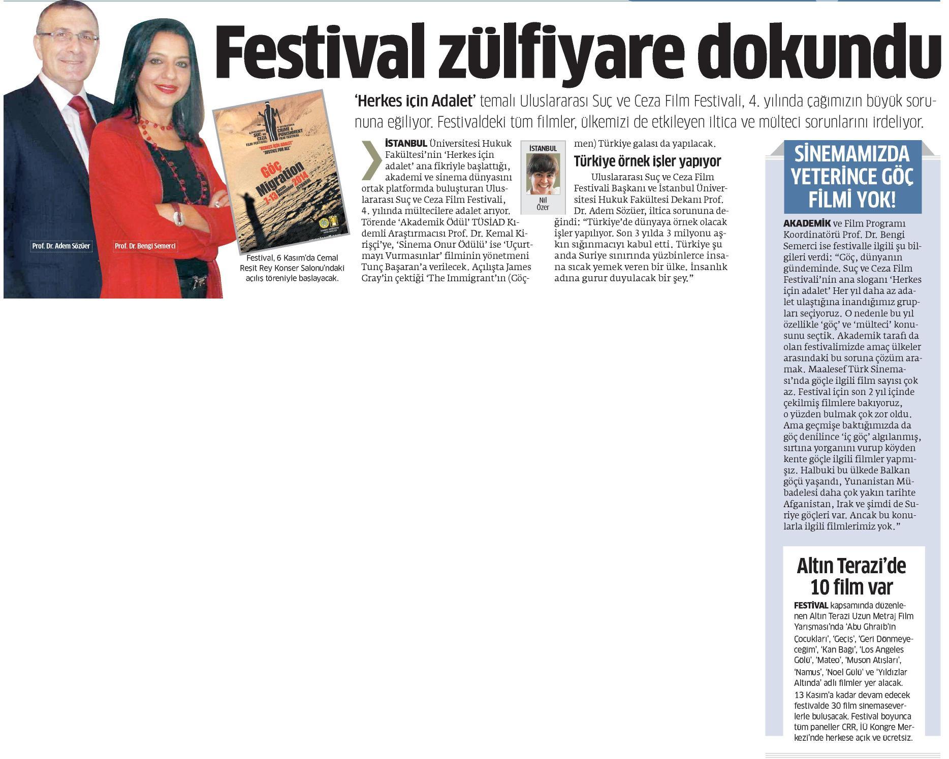Festival zülfiyare dokundu - STAR  24.10.2014
