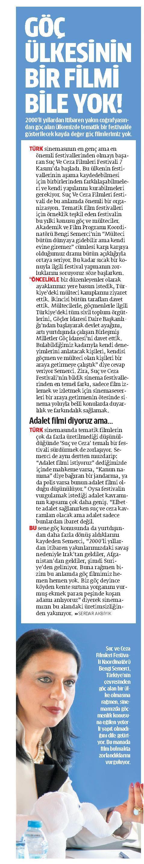 Göç ülkesinin bir filmi bile yok! - STAR 12.11.2014