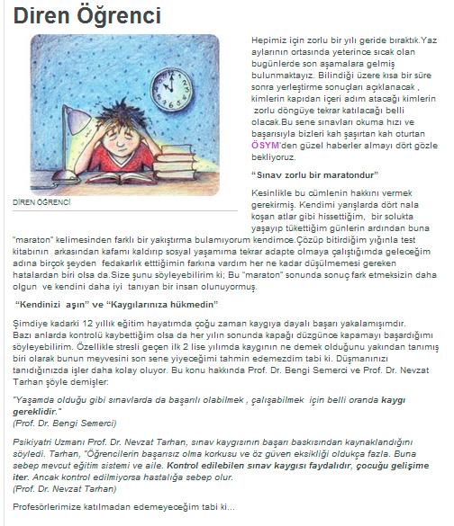 Diren Öğrenci / Sınavlar - 23.01.2014 BLOG.MILLIYET.COM.TR