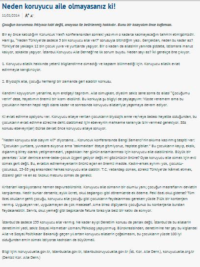 Neden koruyucu aile olmayasanız ki! - 11.01.2014 RADIKAL.COM.TR
