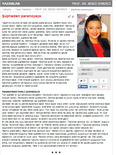 Şüpheden paranoyaya - 22.02.2014 SABAH.COM.TR